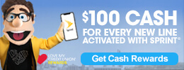 $100 Cash for every new line activated with Sprint